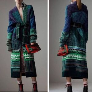 Burberry oversized cashmere-blend cardigan